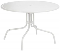 round white outdoor dining table