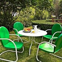 retro outdoor dining set
