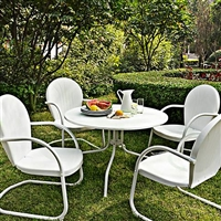 Griffith Nostalgic White 5-Piece Patio Dining Set