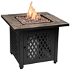 Slate Tile Mantel Outdoor Fire Table