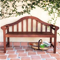 curved bench outdoor seat