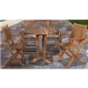 Lalinda 5-Piece Teak Outdoor Dining Set
