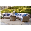 Trindale Brown Wicker 4-Piece Sectional Conversation Set