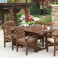 Preston Dark Brown 7-Piece Dining Set With Cushions