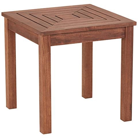 "Nantucket 20"" Wide Wood Outdoor Accent Table"