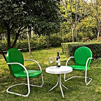 Retro Grasshopper Green 3-Piece Bistro Set
