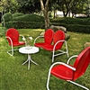 Griffith Retro Red 4-Piece Conversation Set