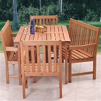 Forli Eucalyptus 5-Piece Dining Set