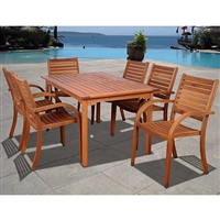 Cerrissa 7-Piece Eucalyptus Rectangular Dining Set