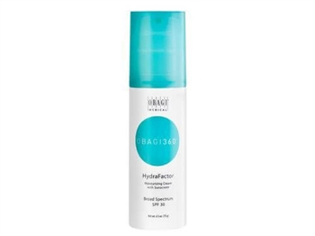 Obagi 360 HydraFactor Broad Spectrum SPF 30 is a dual-function moisturizer with soothing ingredients and broad-spectrum protection to help prevent skin damage caused by UVA/UVB rays.