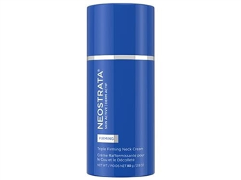 NeoStrata Triple Firming Neck Cream is formulated to help reverse the visible signs of aging in the challenging neck and decolletage by building volume and firming sagging skin