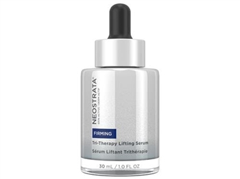 NeoStrata Skin Active Tri-Therapy Lifting Serum is formulated with a proprietary triple antiaging complex to help volumize and sculpt skin, filling the look of deep wrinkles and improving the appearance of skin laxity.