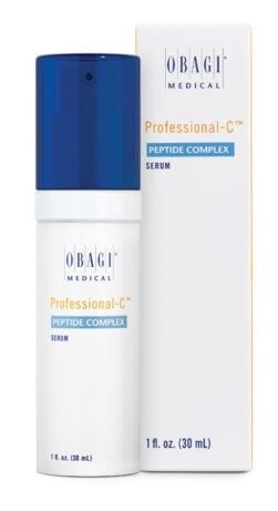 Obagi Professional-C Peptide Complex helps to minimize the visible signs of skin aging, promoting a healthy, youthful glow. It improves the appearance of firmness, tone, and fine lines and wrinkles and is clinically proven to help restore skin tone.