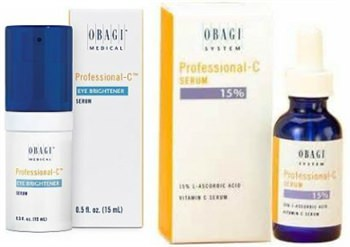 Obagi Professional-C Eye Brightener Serum and Obagi Professional-C Serum 15%