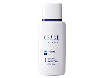Obagi Nu-Derm Foaming Gel removes impurities, oil, and makeup to leave even the oiliest skin clean and fresh.  Obagi Nu-Derm Foaming Gel is ideal for Normal to Oily skin.