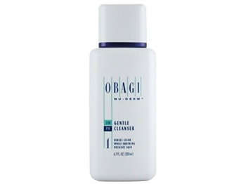 Obagi Nu-Derm Gentle Cleanser is a dissolving cleanser for cleaning normal to dry, sensitive skin.  Obagi Nu-Derm Gentle Cleanser  helps remove impurities, make-up, dead skin cells, and excess oil without irritating the skin.