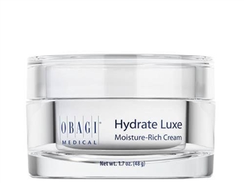 Obagi Hydrate Luxe is an ultra-moisturizing, luxurious face cream delivering deep hydration and skin radiance.  It provides 8-hour moisture protection, innovative technology and ingredients, including shea butter, mango butter, and avocado.