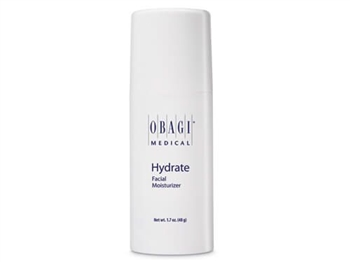 Obagi Hydrate Facial Moisturizer provides long-lasting hydration for all-day moisture protection.  Obagi Hydrate contains Hydromanil, a technologically advanced ingredient, which retains water and gradually delivers moisture to the skin.