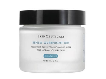 SkinCeuticals Renew Overnight Dry is ideal for normal or dry skin, this nighttime skin-refining moisturizer contains a 10% hydroxy acid blend to gently exfoliate the skin for a healthier appearance.
