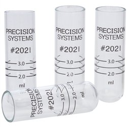 Glass Sample Tubes, 2.0 mL, 12/pk