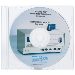 Instruction Manual for CRYETTE WR Model 5009, Wide Range Cryoscope
