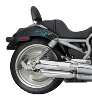 harley-davidson v-rod vrsca vrscb vrscaw baffled slash cut slip-on exhaust pipe mufflers