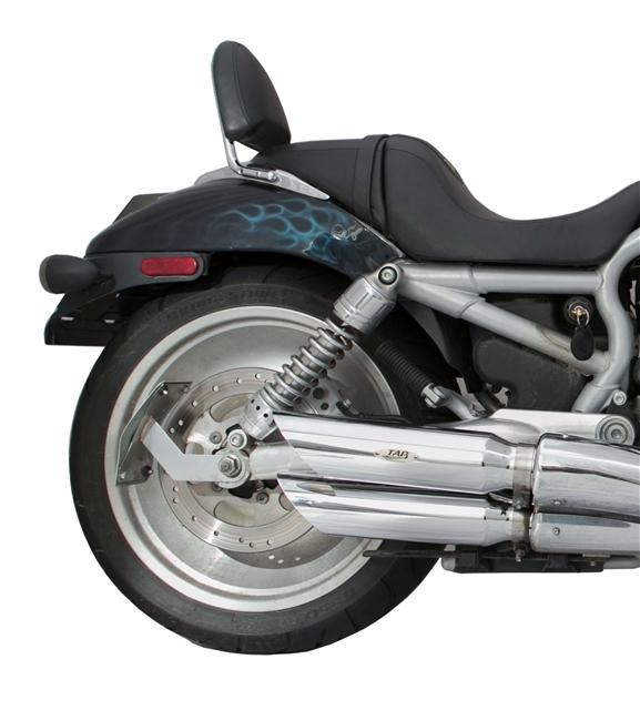 Harley-Davidson VROD Chrome Baffled Slash Cut Slip-On Exhaust Pipe ...