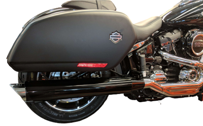 TAB Performance chrome tip compatible exhaust pipe mufflers for a harley-davidson softail sport glide