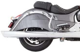 TAB Performance chrome tip compatible BAM Sticks exhaust pipe mufflers for a 2014 - Up Indian Chief motorcycle