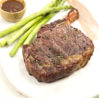 Cowboy Cut Ribeye with Asparagus