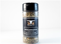 Bottle of Rube's custom blended Mediterranean Seasoning