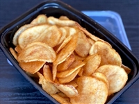 Potato chips in to go container.