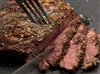 Grilled cowboy cut ribeye with herbed butter
