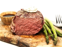 Bacon-Wrapped Filet Mignon with asparagus