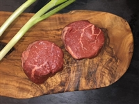 Rube's fresh USDA Prime 4 oz top sirloin.