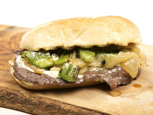 Juicy thin-cut Rube's ribeye served on a bun.