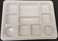 10 Compartment White Plates (Pack 250)