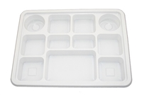 11 Compartment White Plates (Pack 250)
