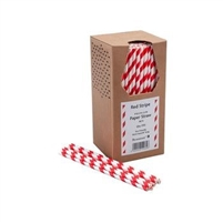 44891 - Red Paper Straws Packed