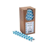 44893 - Blue Stripe Paper Straws