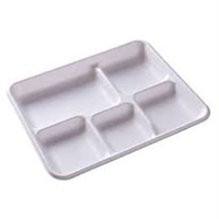 5 Compartment White Plates (Pack 250)