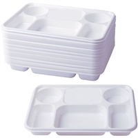 6 Compartment White Plates (Pack 250)