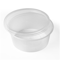 8oz Clear Bowls and Lids (Pack 250)