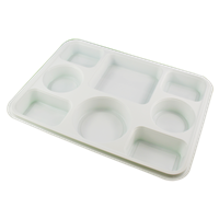 8 Compartment White Plates (Pack 250)