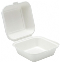 91014 - 6'' Bagasse Burger Box