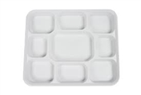 9 Compartment White Plates (Pack 250)