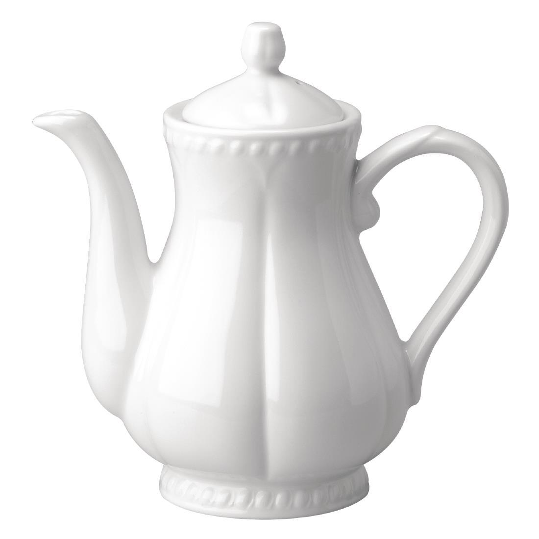 CA239 - Buckingham White Coffee Pot