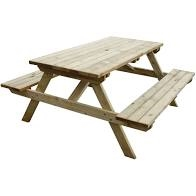 CG095 - Rowlinson Wooden Picnic Bench 5ft