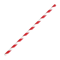Fiesta Green Bendy Paper Straw Red Stripe - 210mm 6mm (Pack 250)  FB142