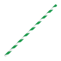 Fiesta Green Bendy Paper Straw Green Stripe - 210mm 6mm (Pack 250)  FB143